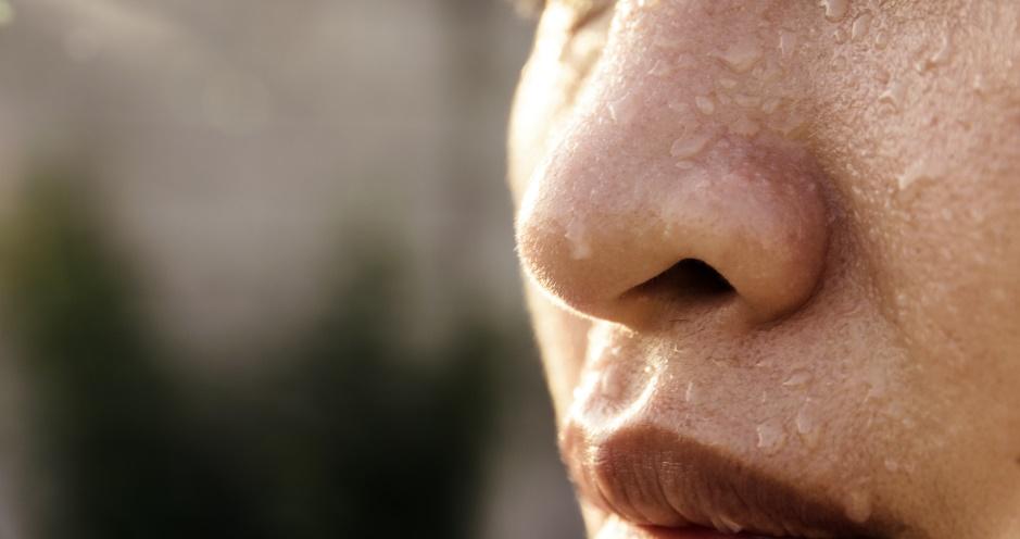 汗かきの鼻